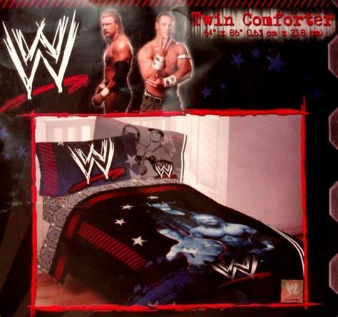 wwe wrestling twin comforter sheets 4pc bedding new