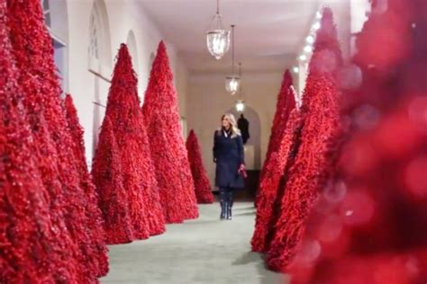 melania trump unveils creepy white house  christmas