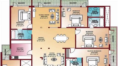 Home Design Ideas Floor Plans by 4 Bedroom Floor Plans Home Design Decorating And