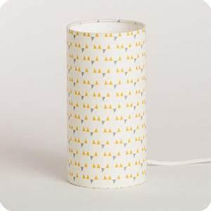 Lampe Chevet Scandinave : lampe de chevet enfant en tissu motif scandinave jaune mistinguett yellow ~ Teatrodelosmanantiales.com Idées de Décoration