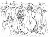 Coloring Castle Frozen Casitas Castles Spooky Cliffs Duendes Printable Colinas Elsa Waterfall Colorear Halloween Dibujos Mountains Landform Paisajes Template Coloringpagebook sketch template