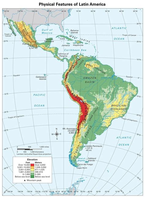 Central America Map Tropic Cancer