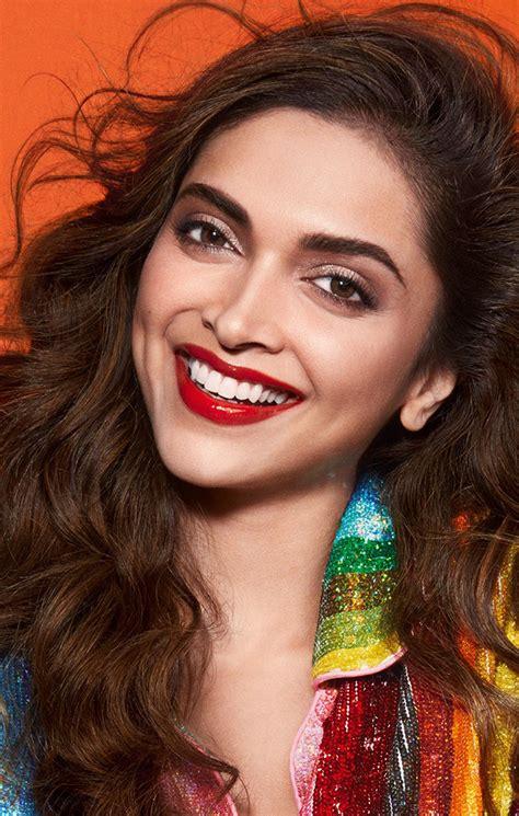 deepika padukone cute smile red lips charming actress