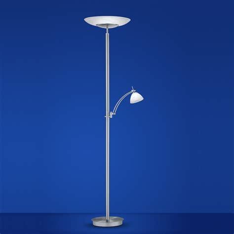 B Leuchten LED Deckenfluter Falun in Nickel matt / Chrom