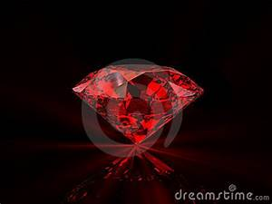 Red Diamond On Black Background Stock Photo - Image: 13729090