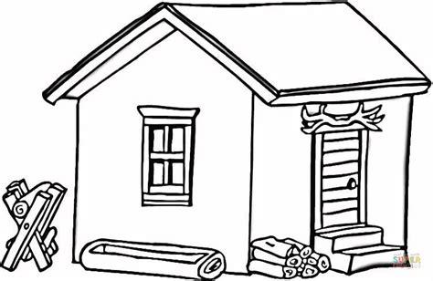 log cabin  wood coloring page  printable coloring