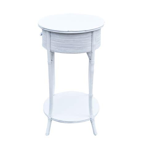 small wicker side table mid century white wicker side table ebay