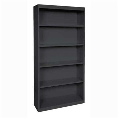 6 Foot Black Metal Bookcase  Better Office Furniture