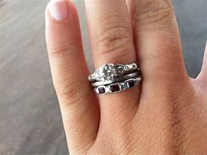 satisfaction wedding and eternity ring set With engagement wedding and eternity ring