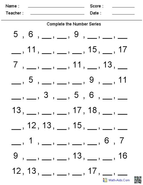counting patterns worksheets patterns worksheets dynamically created patterns worksheets