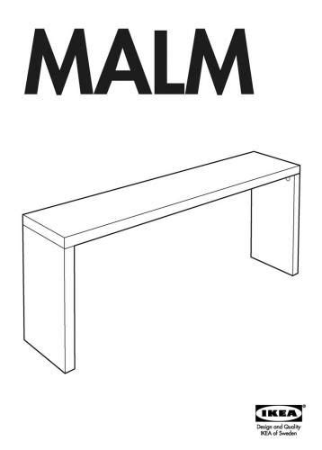 IKEA Malm Occasional Sofa Table - add caster wheels. Use