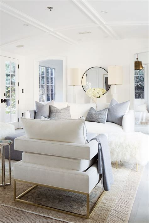 White Living Room Setting In A Modern Home