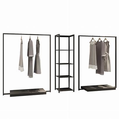 Rack Display Hanging Clothes Shelves Floor Side