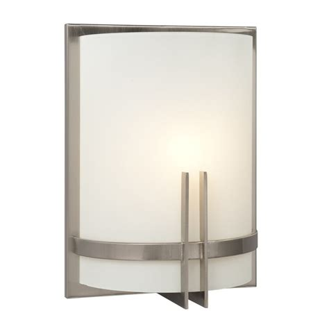 Sconce Lighting Lowes by Galaxy Corbett 9 In W 1 Light Brushed Nickel Pocket Wall