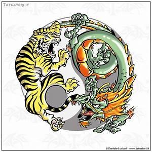 Dragon Tiger Yin Yang Tattoo Designs Black Dragon And Tiger In Yin