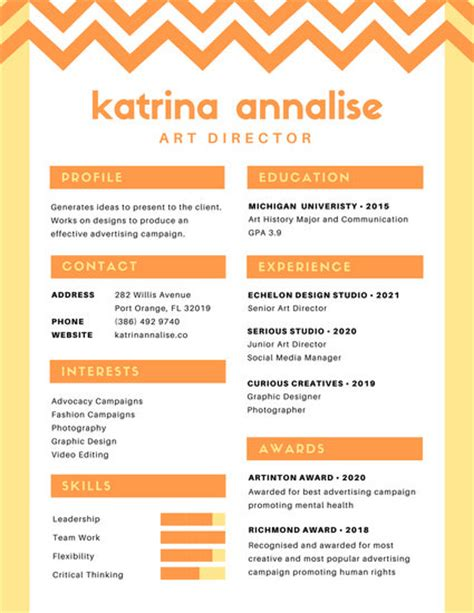 colorful resume templates canva