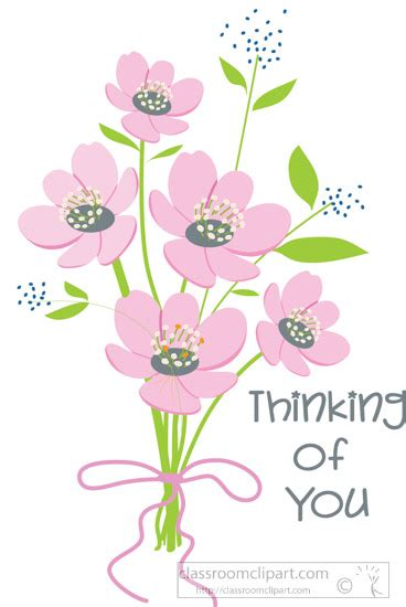 thinking of you clipart special occasions clipart thinking of you flower bouquet