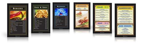digital menu board templates menu board template
