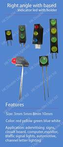 5mm Bi Color Right Angle Indicator Led With Black Case Red