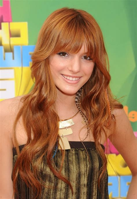 Bella Thorne Cute Long Curly Hairstyle with Face Framing