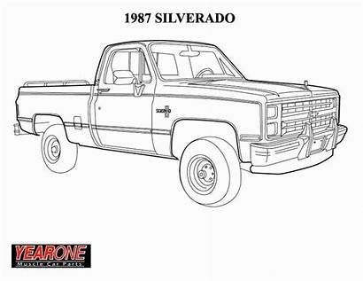 Coloring Chevy Truck Pages Chevrolet Silverado Drawings