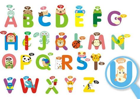 English Alphabet Wall Stickers For Kids Rooms Cartoon Wall