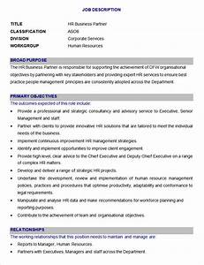 Download sample hr business partner job description for Creating job descriptions template