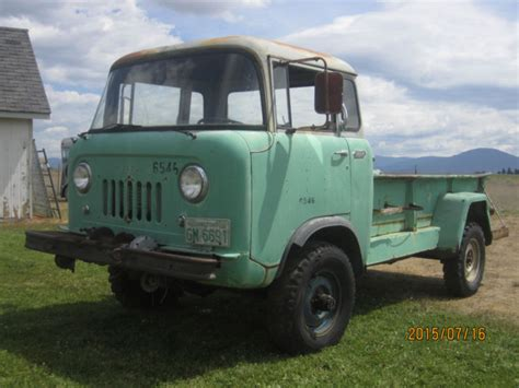 willys fc  extended cab pickup  green  sale   jeep fc  truck