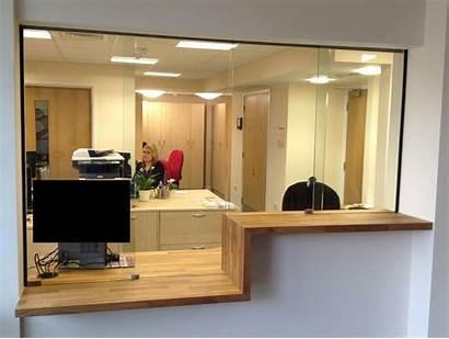 Sliding Reception Office Screen Counter Screens Frameless