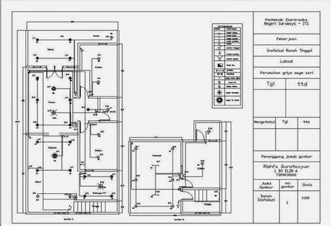 perhatikan pembuatan denah instalasi listrik rumah  aman