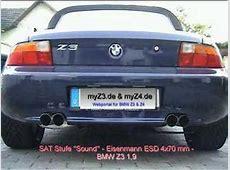 BMW Z3 Eisenmann 4x70mm Exhaust YouTube