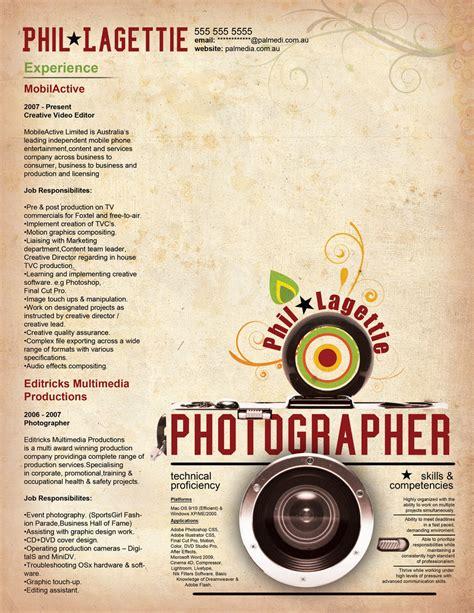 resume photographer 2 by orangeresume on deviantart