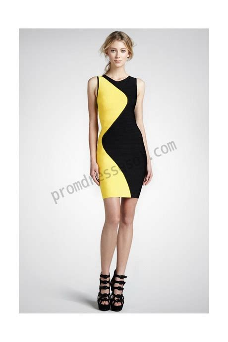 robe jaune et noir black and yellow dresses