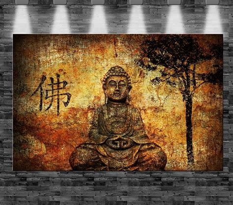 buddha bild leinwand buddha auf leinwand 110x70cm limitiert loft design