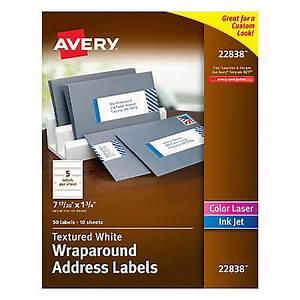 avery premium address labels 22838 wraparound 1 34 x 7 With avery wraparound labels