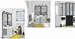 Salle De Bain 5m2 : r organisation d 39 une salle de bain de 5 5m2 marie claire ~ Dailycaller-alerts.com Idées de Décoration