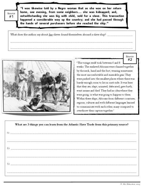 images   grade worksheets primary sources