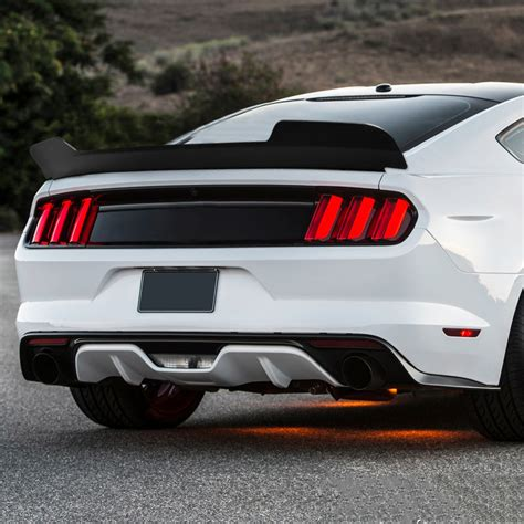 ford mustang md style matte black rear trunk lid