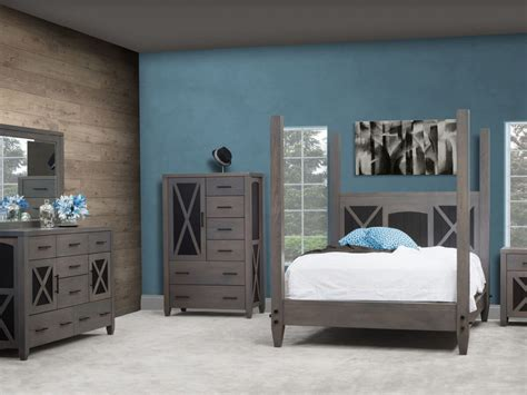 Gray American Made Bedroom Furniture
