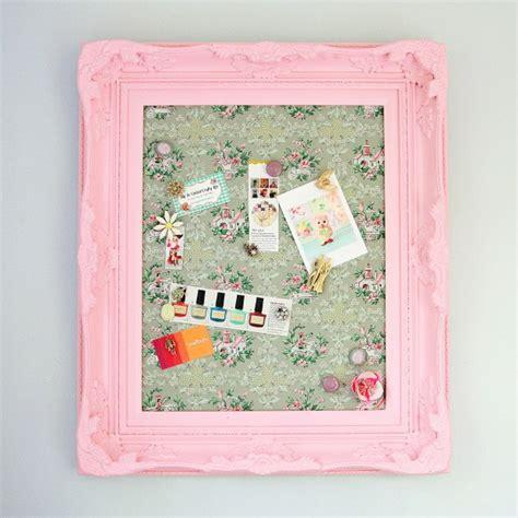 diy framed vintage wallpaper magnetic board   called