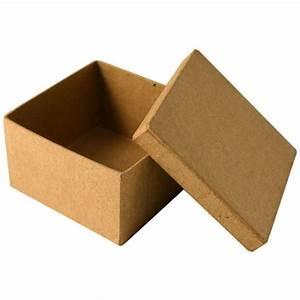 Boite En Carton À Décorer : bo te en carton carr e 8 5 cm boite en carton d corer creavea ~ Melissatoandfro.com Idées de Décoration