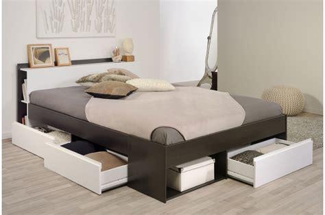lit 2 places avec rangement pas cher pour lit