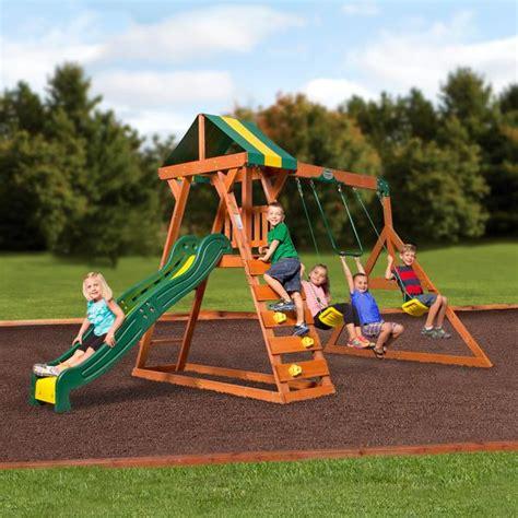 madison wooden swing set playsets backyard discovery