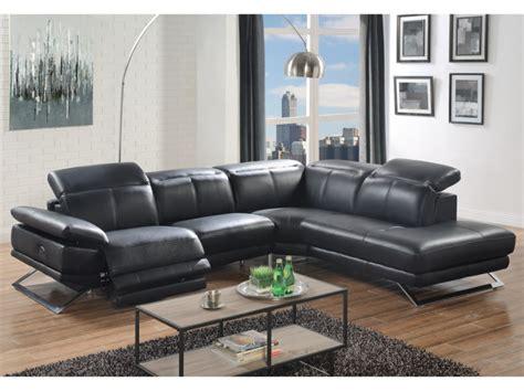 canape dangle relax electrique en cuir noir ou blanc puno