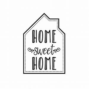 Home Sweat Home : transfert thermocollant home sweet home cm noir x1 perles co ~ Markanthonyermac.com Haus und Dekorationen