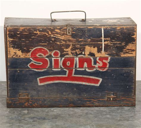 sign painter s brush box at 1stdibs