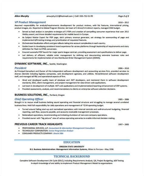 product manager resume 8 free pdf documents