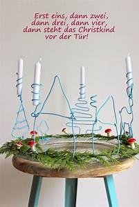 Deko Für Adventskranz : pfefferminzgruen diy adventskranz aus draht deko advent selbstgemachtes weihnachten und ~ Buech-reservation.com Haus und Dekorationen
