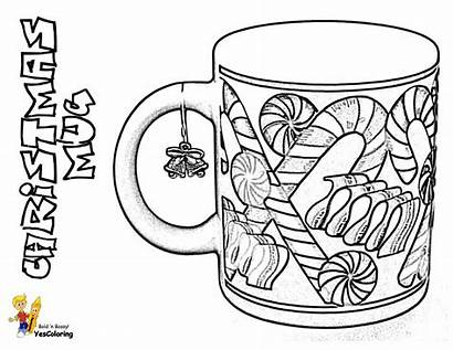 Coloring Mug Cups Cool Coffee Printable Cakes