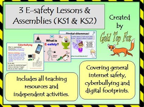 three e safety assemblies and lessons ks1 and ks2